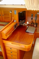 PVC Clear Sheeting used on polished wood surfaces on boat